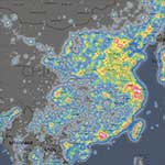 全球光污染地图
